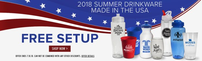 Promotional Drinkware made in the usa
