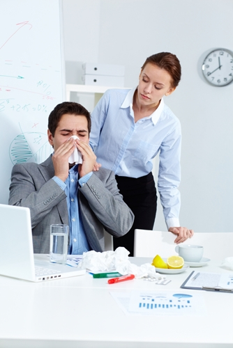 Use business gifts to combat the flu